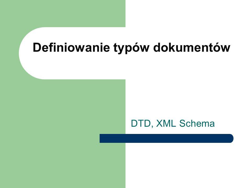 Definiowanie typów dokumentów