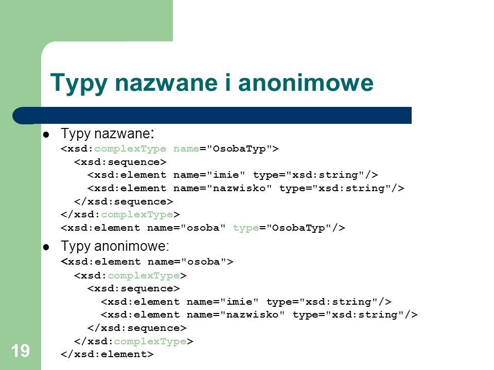 Typy nazwane i anonimowe