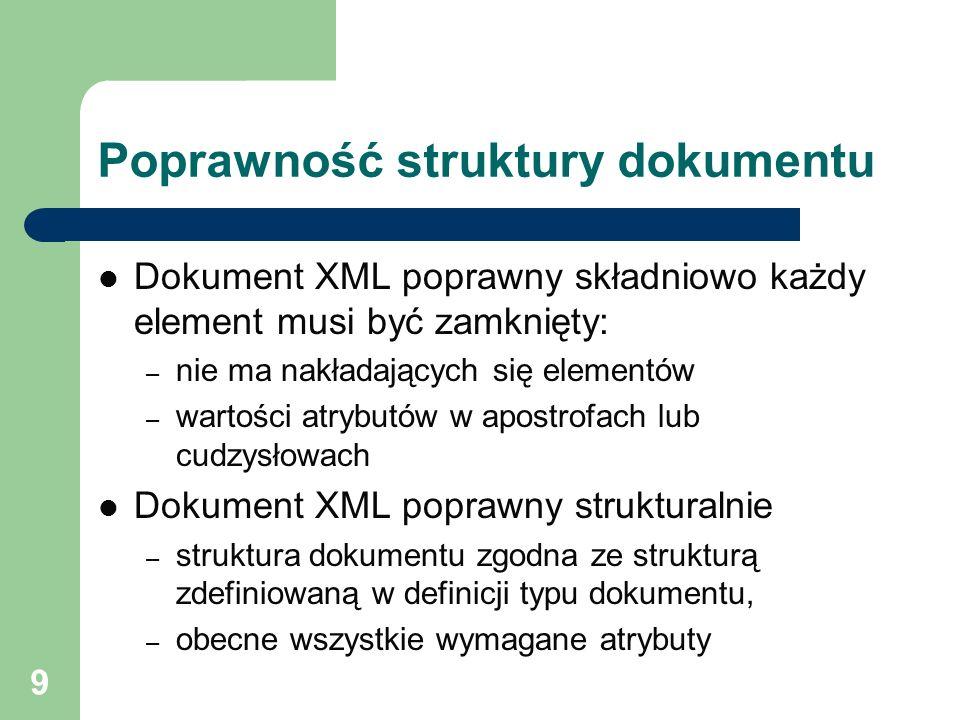 Poprawność struktury dokumentu
