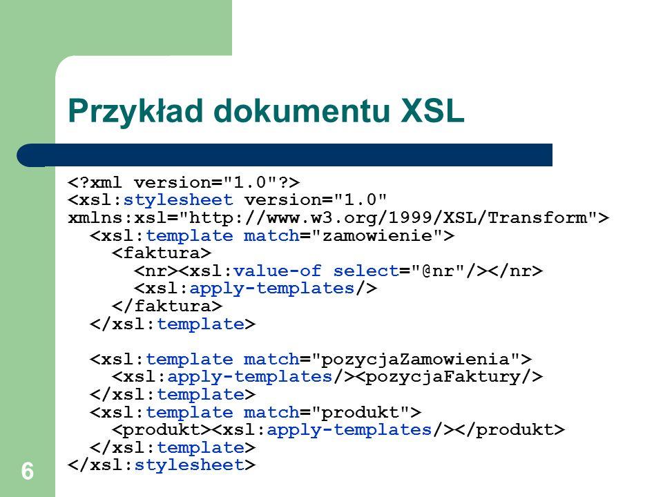 Przykład dokumentu XSL