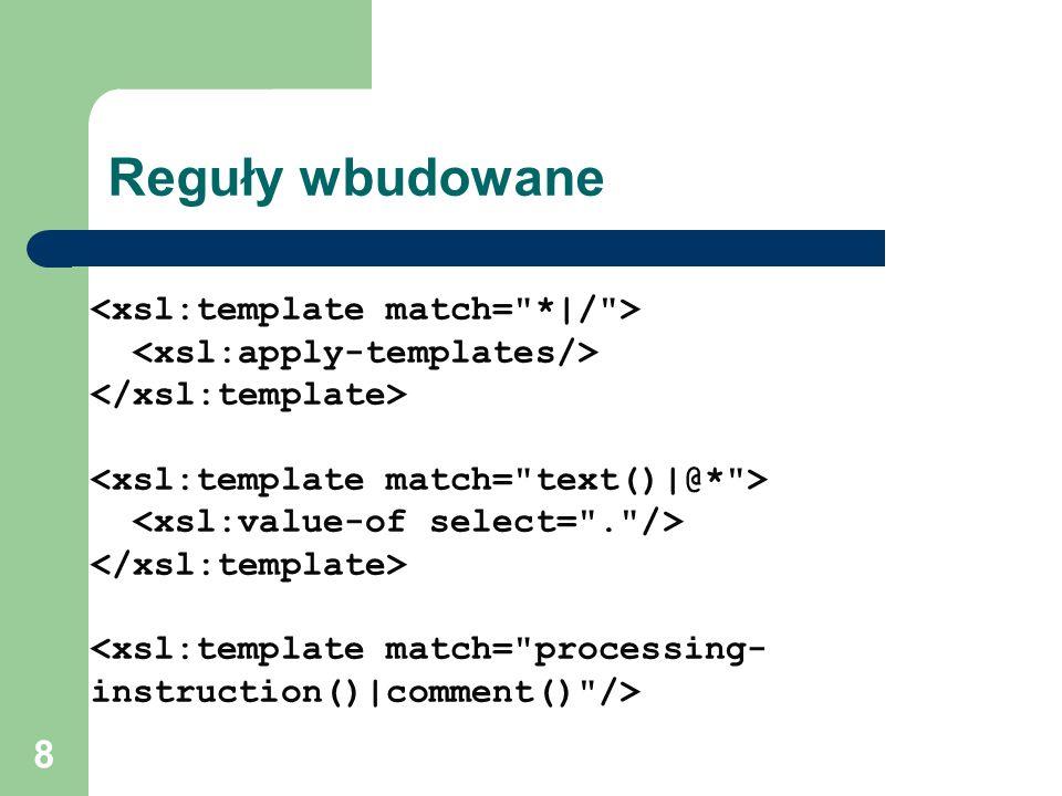 Przekszta canie dokument w xml xsl ppt pobierz for Template matching in image processing