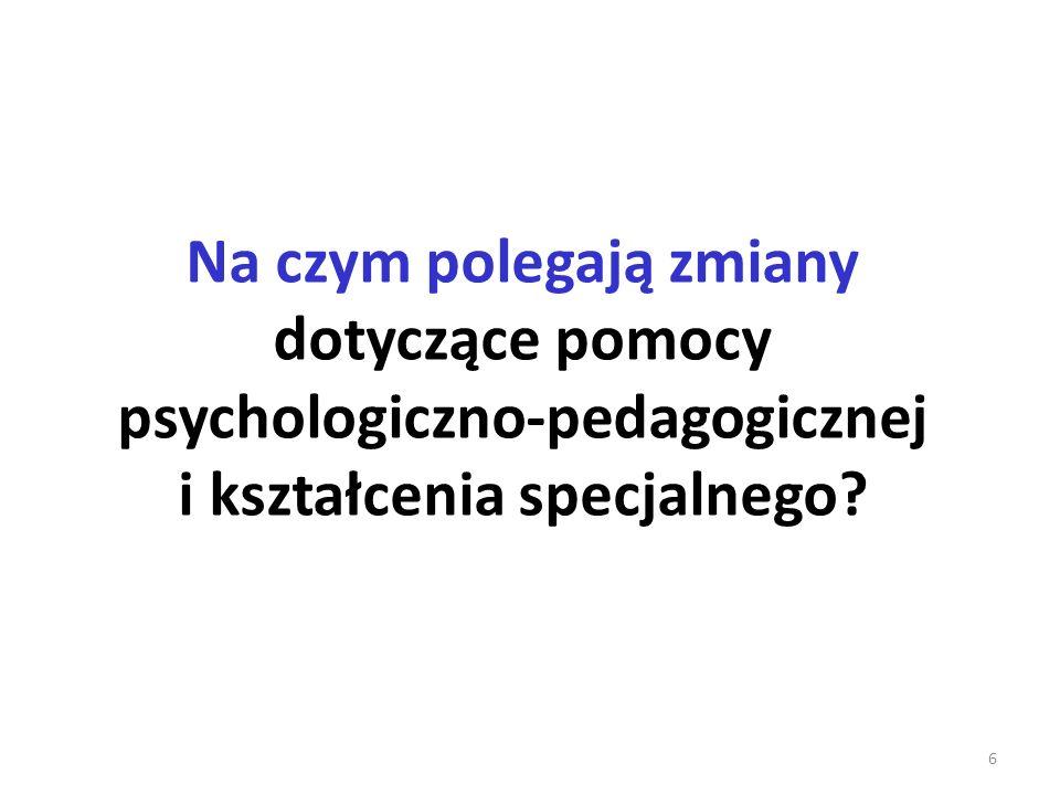 Na czym polegają zmiany dotyczące pomocy psychologiczno-pedagogicznej i kształcenia specjalnego