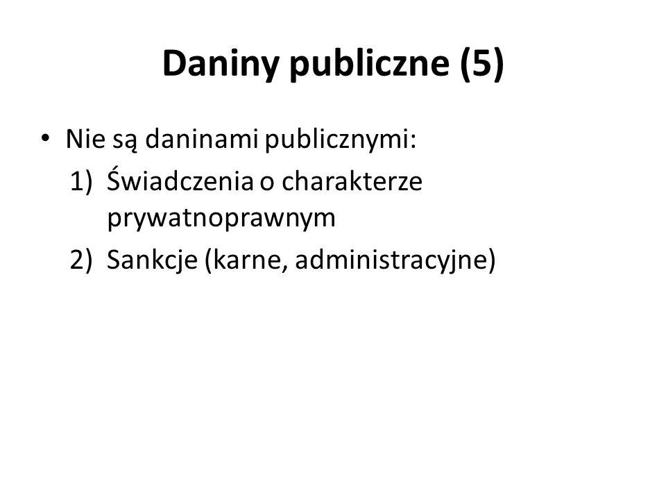 Daniny publiczne (5) Nie są daninami publicznymi: