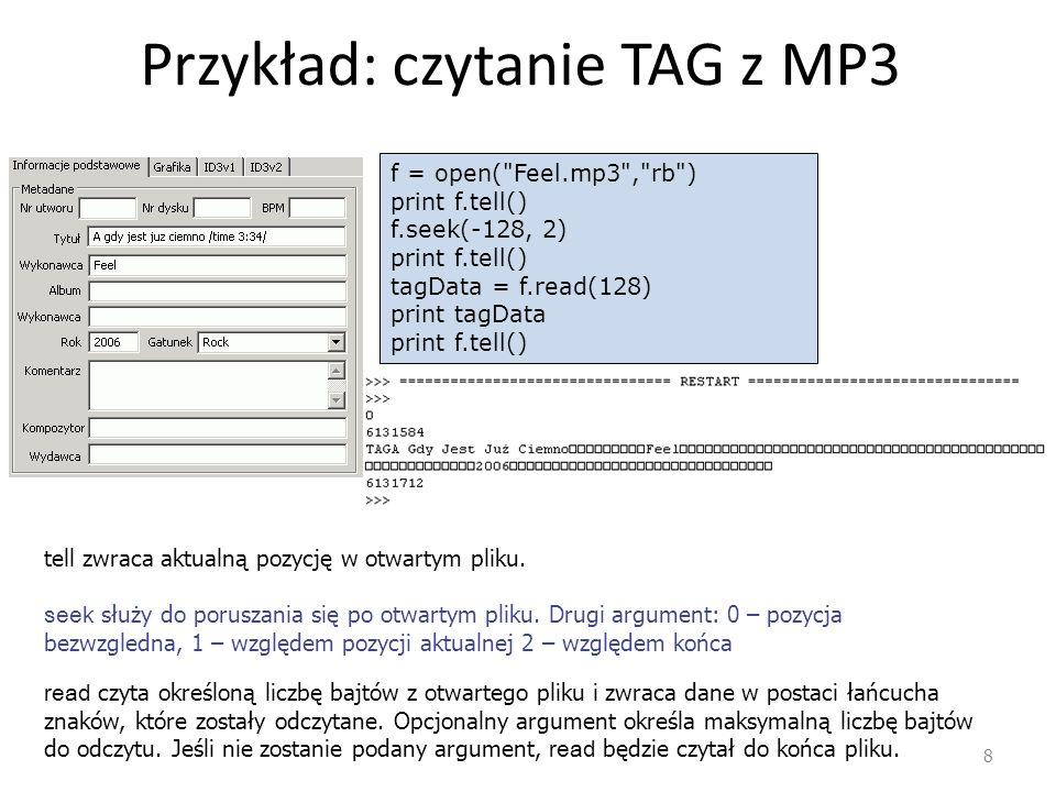 Przykład: czytanie TAG z MP3