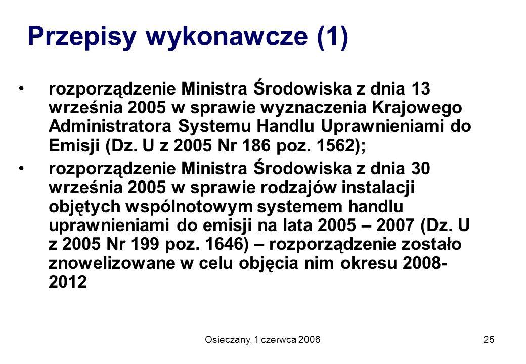Przepisy wykonawcze (1)