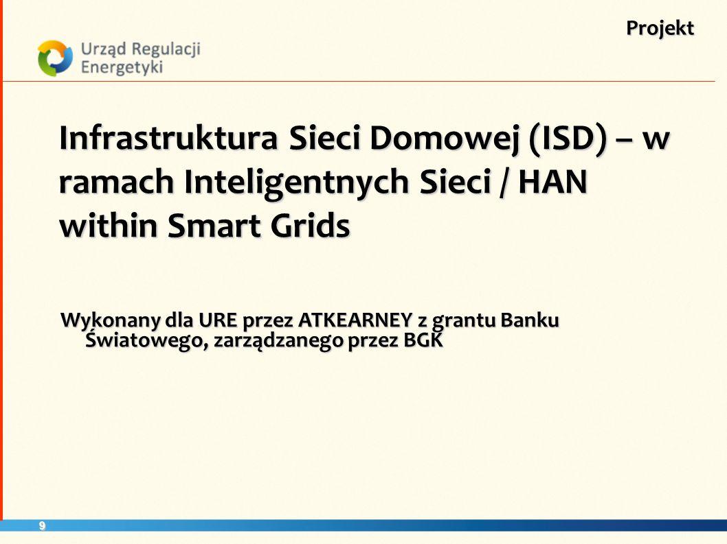 Projekt Infrastruktura Sieci Domowej (ISD) – w ramach Inteligentnych Sieci / HAN within Smart Grids.