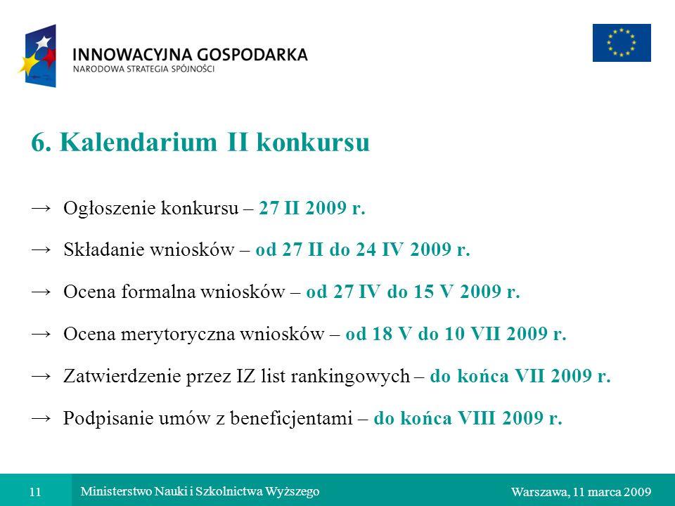 6. Kalendarium II konkursu