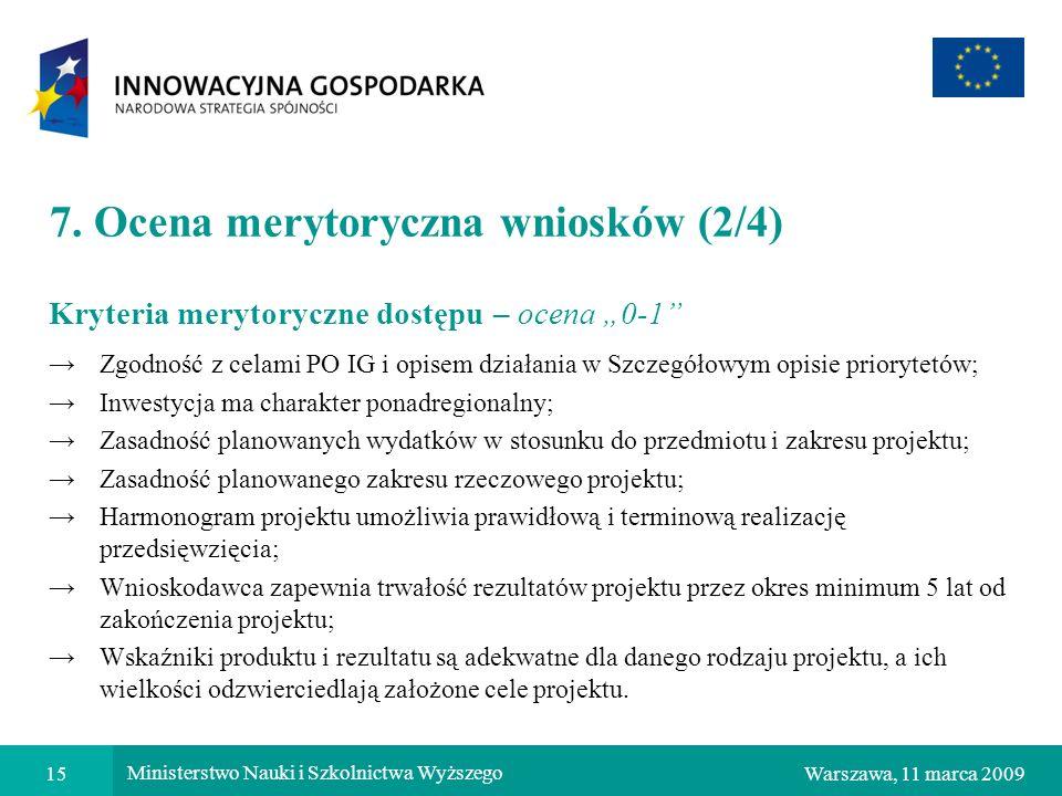 7. Ocena merytoryczna wniosków (2/4)