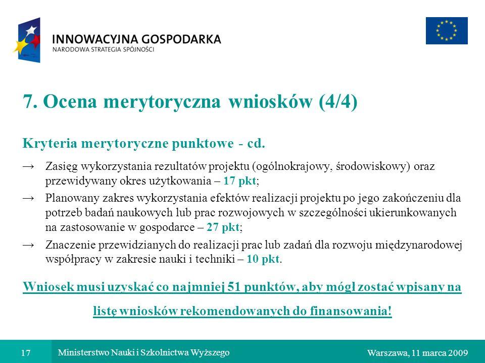 7. Ocena merytoryczna wniosków (4/4)