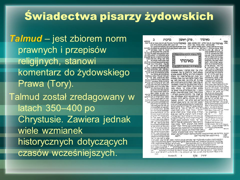 Świadectwa pisarzy żydowskich