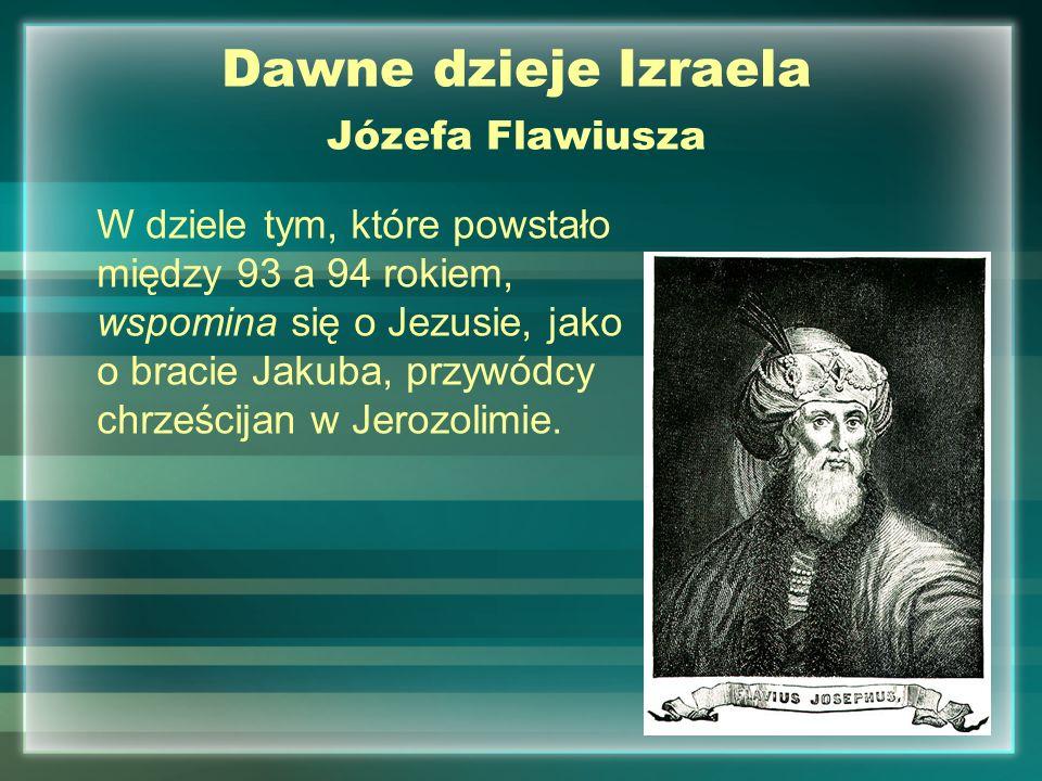 Dawne dzieje Izraela Józefa Flawiusza