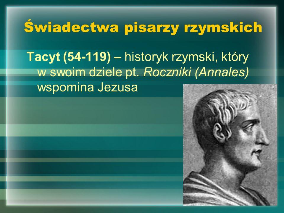 Świadectwa pisarzy rzymskich