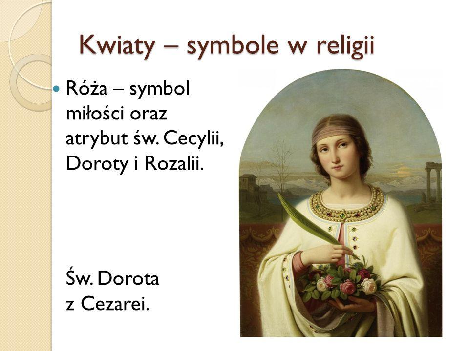 Kwiaty – symbole w religii