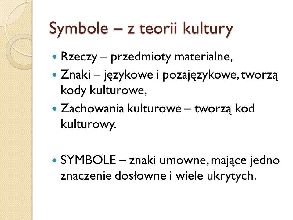 Symbole – z teorii kultury