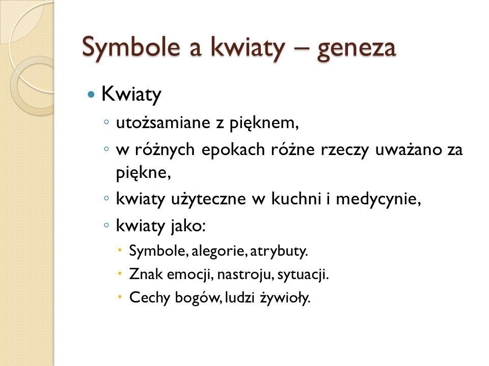 Symbole a kwiaty – geneza
