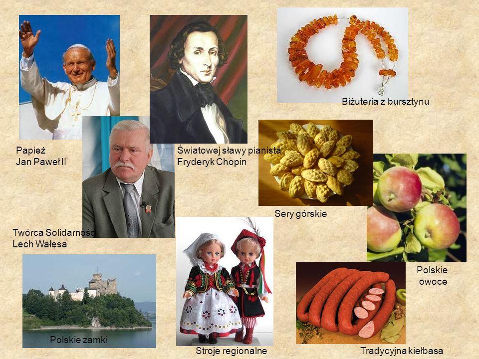 Biżuteria z bursztynu Papież. Jan Paweł II. Światowej sławy pianista. Fryderyk Chopin. Sery górskie.