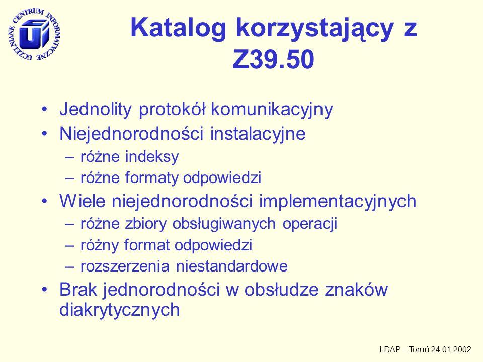 Katalog korzystający z Z39.50