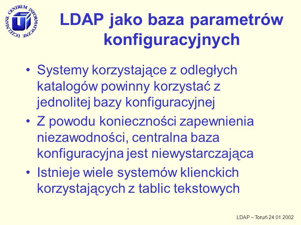 LDAP jako baza parametrów konfiguracyjnych