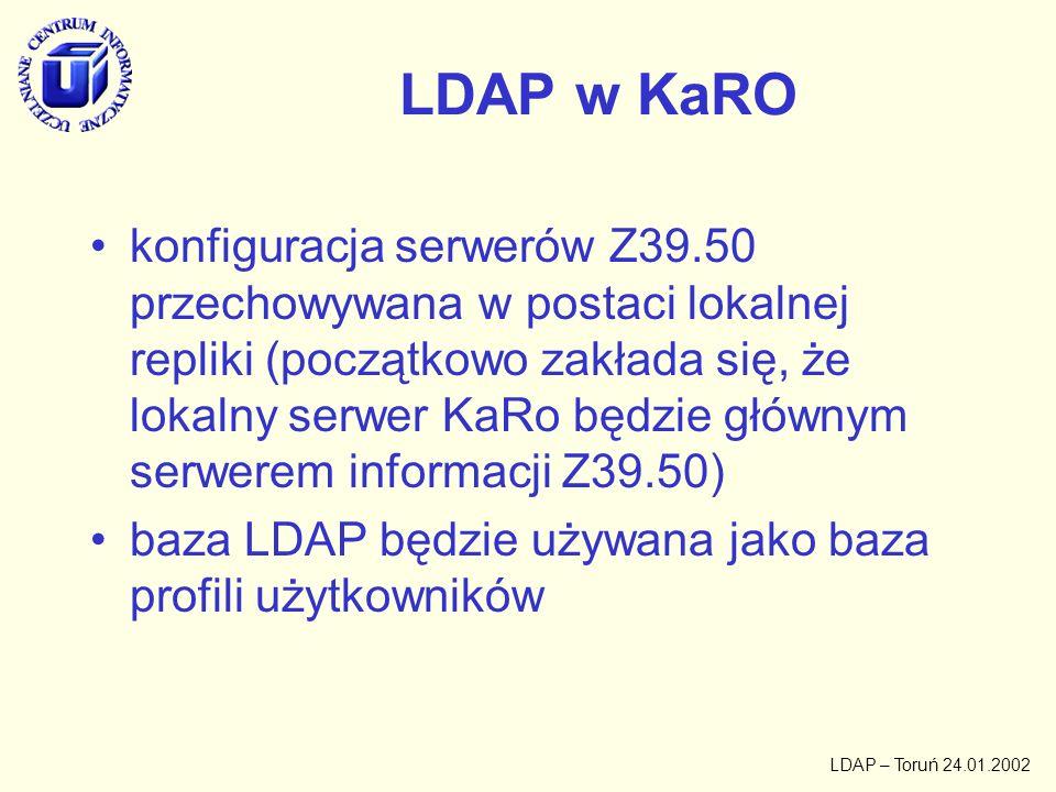 LDAP w KaRO