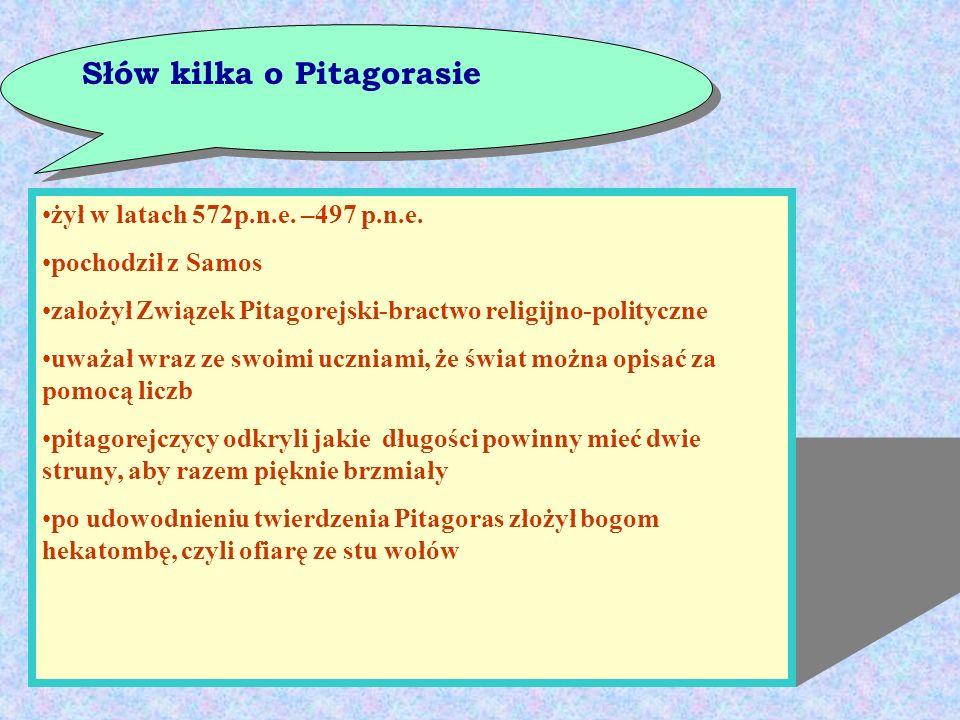 Słów kilka o Pitagorasie