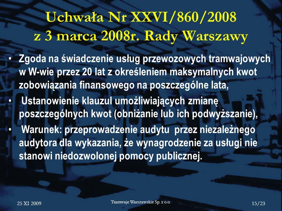 Uchwała Nr XXVI/860/2008 z 3 marca 2008r. Rady Warszawy