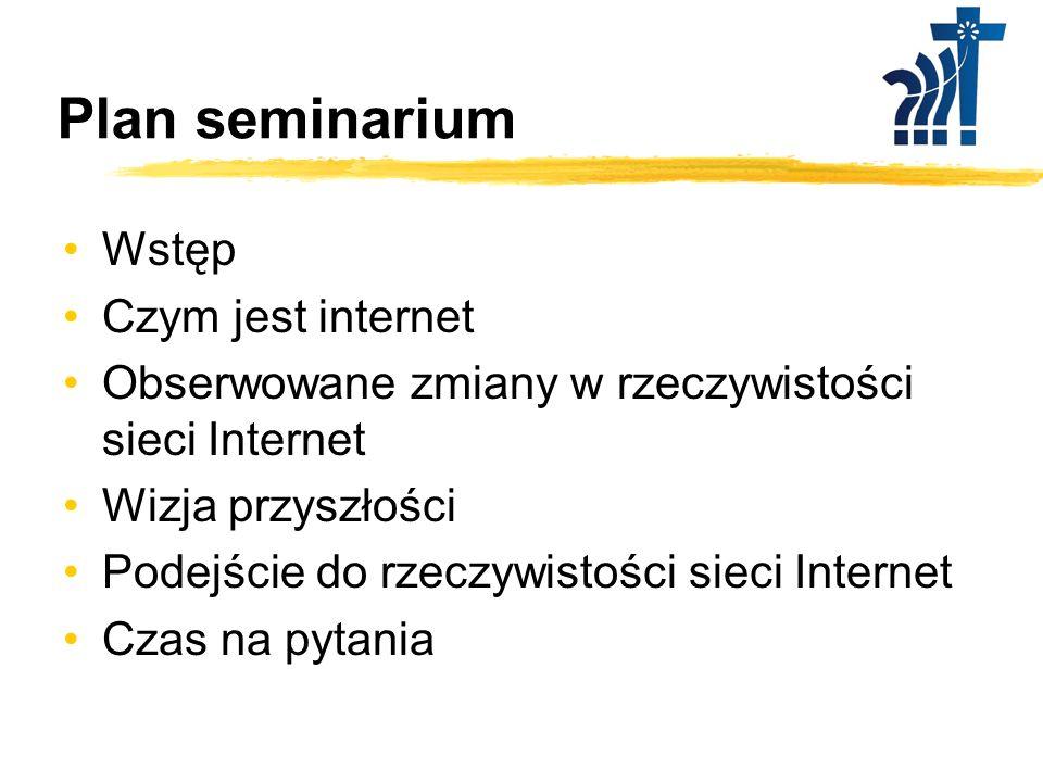 Plan seminarium Wstęp Czym jest internet