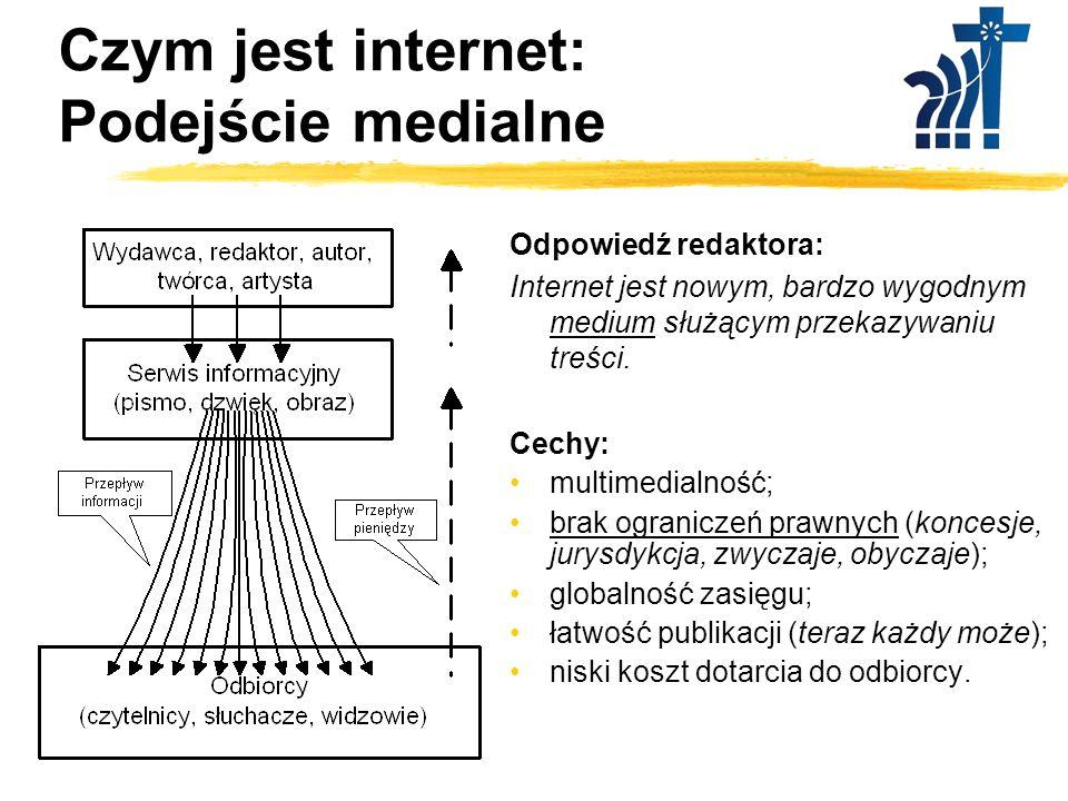 Czym jest internet: Podejście medialne