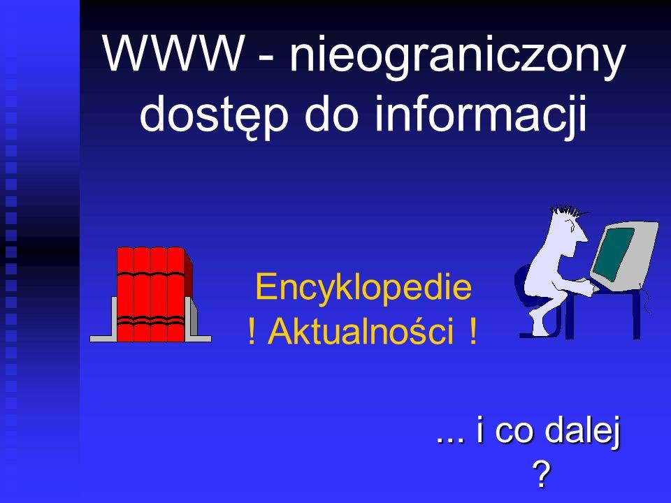 WWW - nieograniczony dostęp do informacji Encyklopedie ! Aktualności !