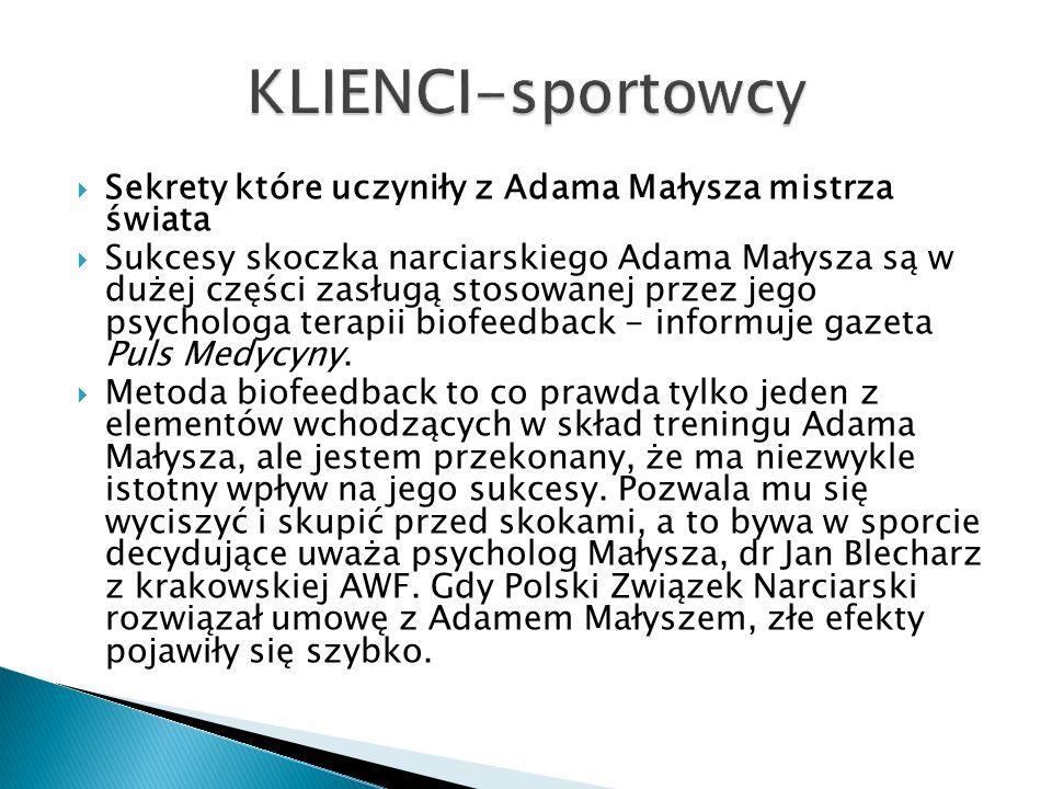 KLIENCI-sportowcySekrety które uczyniły z Adama Małysza mistrza świata.