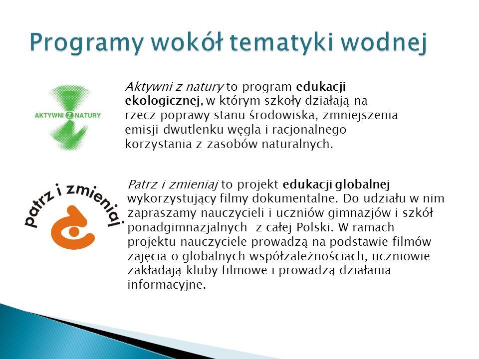 Programy wokół tematyki wodnej