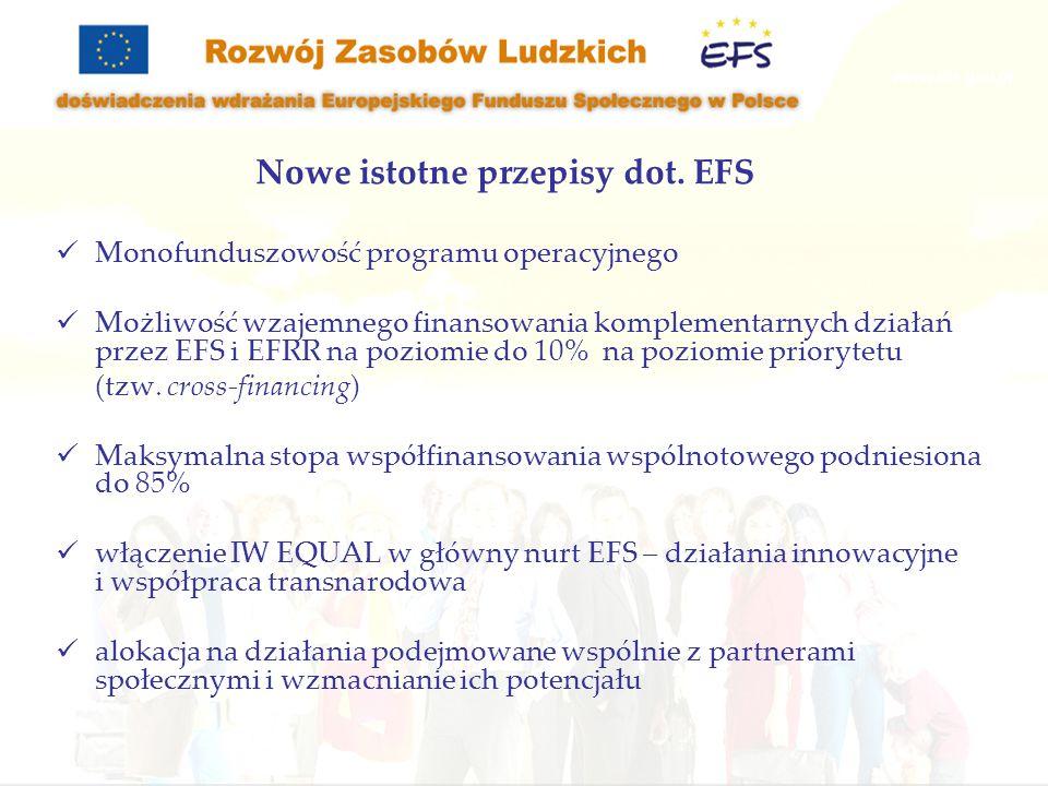 Nowe istotne przepisy dot. EFS
