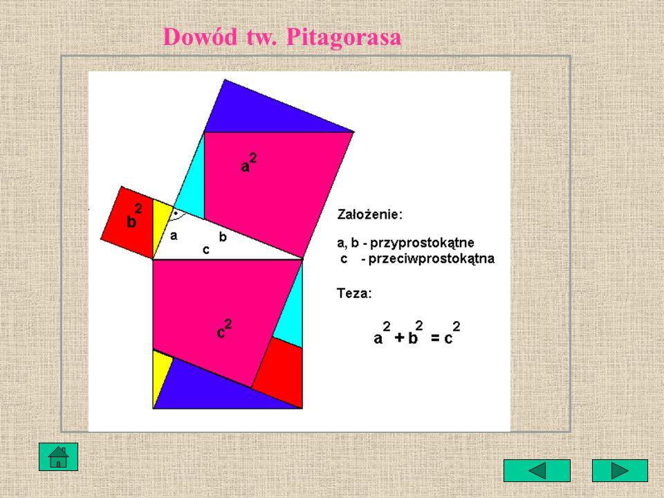 Dowód tw. Pitagorasa