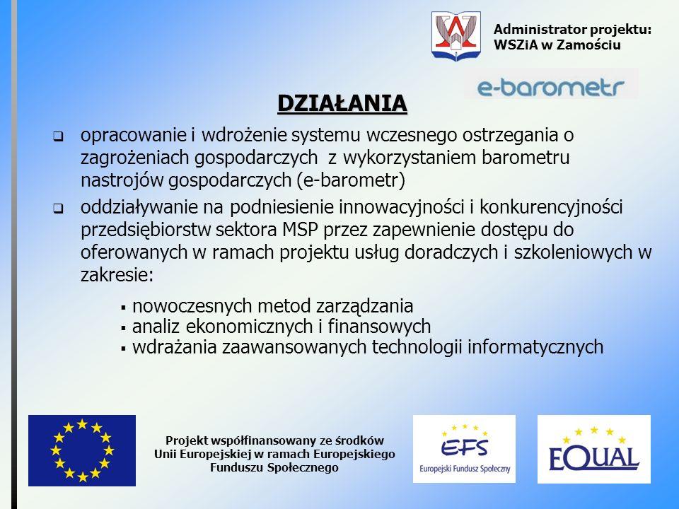 Administrator projektu: WSZiA w Zamościu