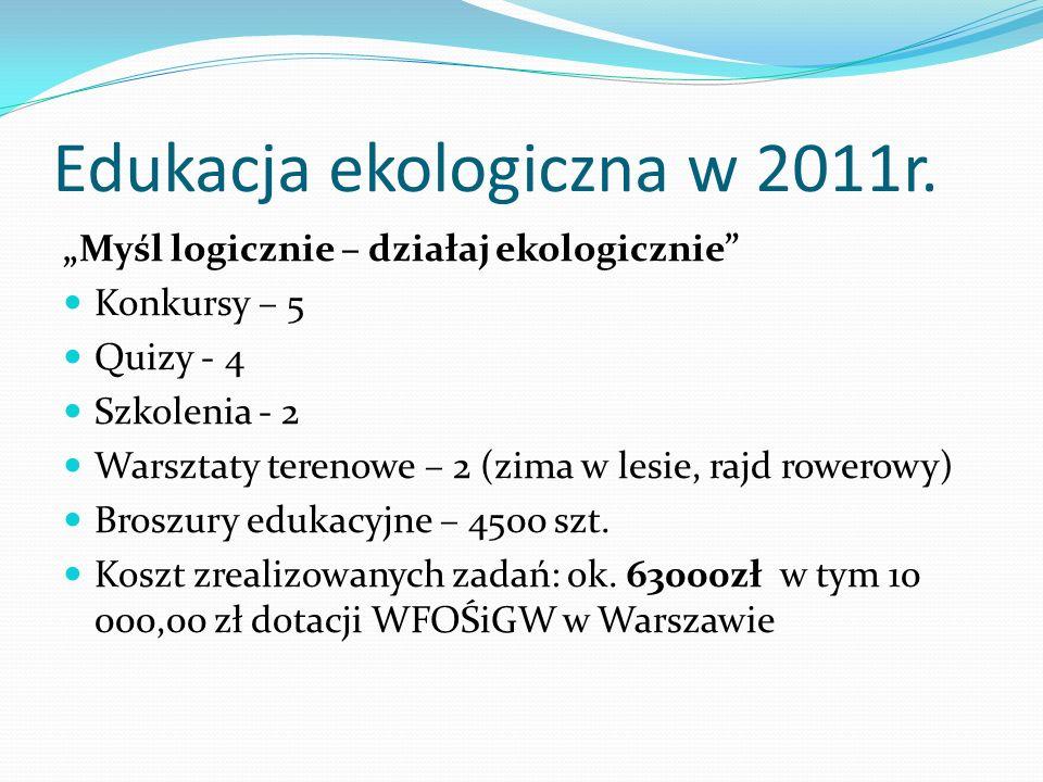 Edukacja ekologiczna w 2011r.