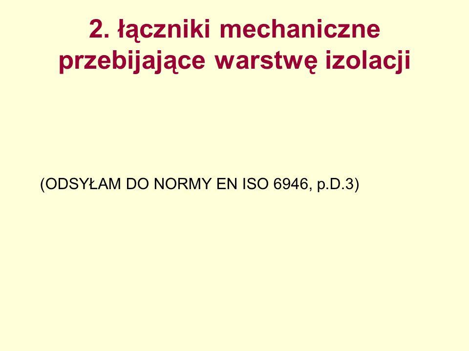 2. łączniki mechaniczne przebijające warstwę izolacji