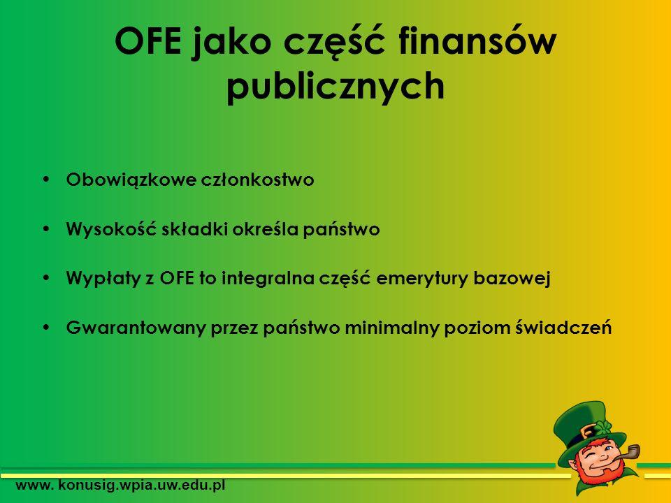 OFE jako część finansów publicznych