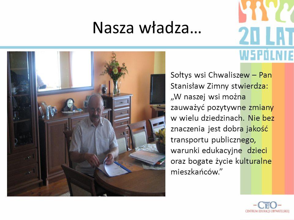 Nasza władza… Sołtys wsi Chwaliszew – Pan Stanisław Zimny stwierdza: