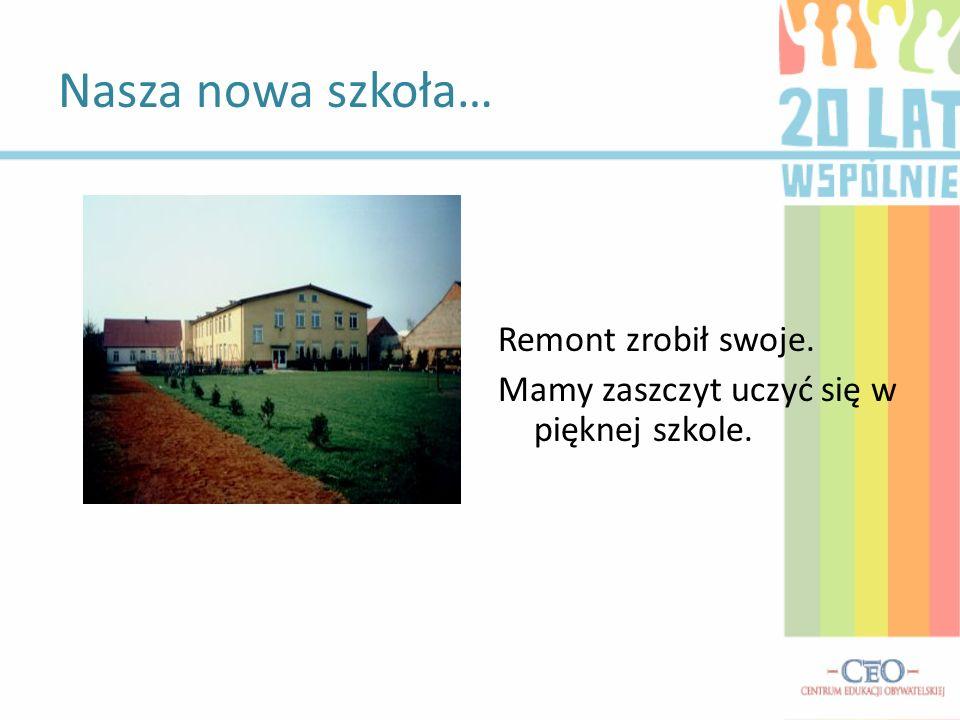 Nasza nowa szkoła… Remont zrobił swoje.