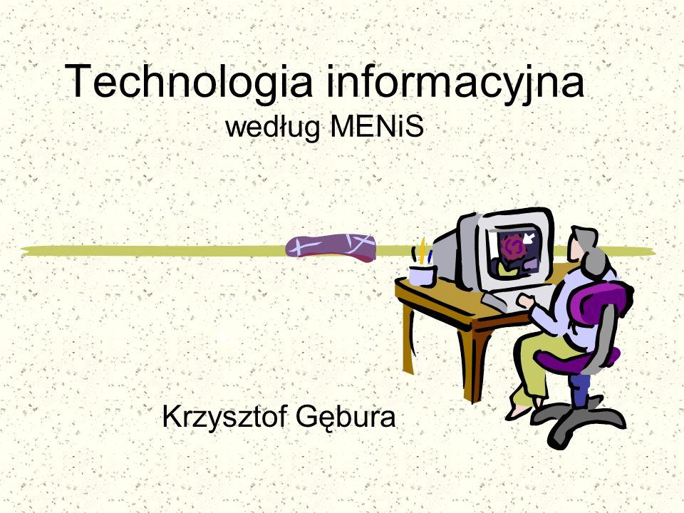Technologia informacyjna według MENiS