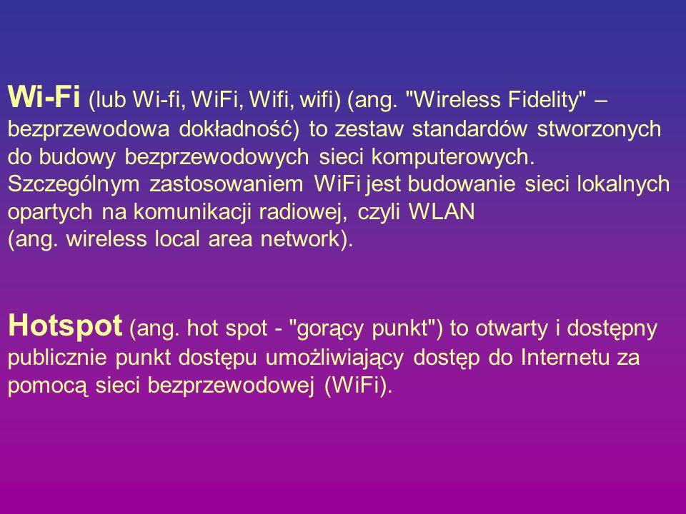 Wi-Fi (lub Wi-fi, WiFi, Wifi, wifi) (ang. Wireless Fidelity –
