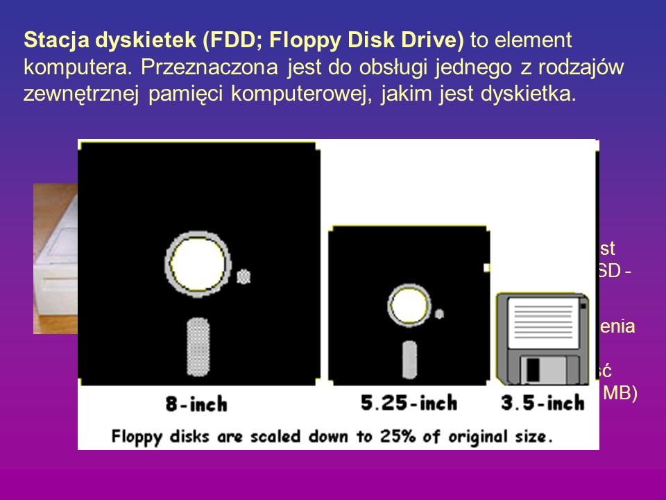 Stacja dyskietek (FDD; Floppy Disk Drive) to element