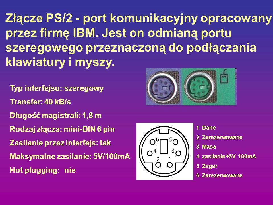 Złącze PS/2 - port komunikacyjny opracowany