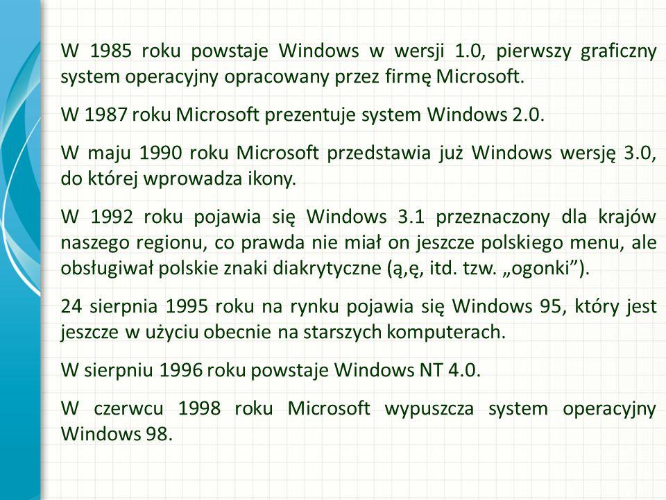 W 1985 roku powstaje Windows w wersji 1