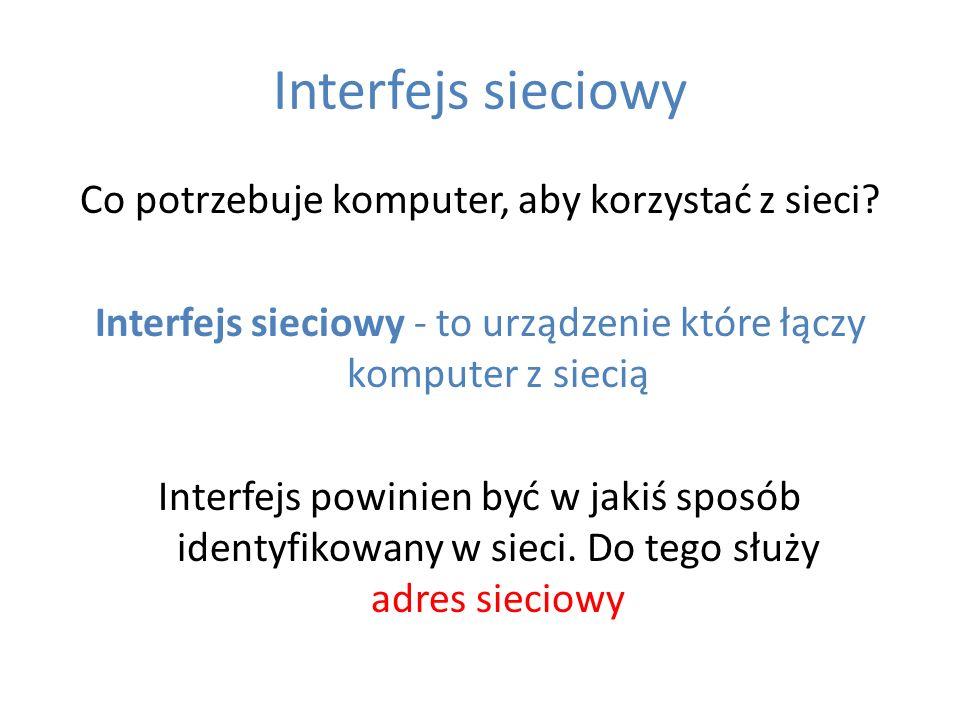 Interfejs sieciowy
