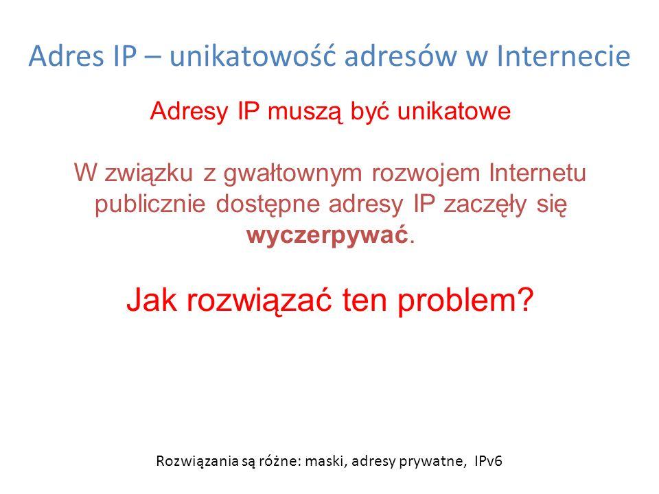 Adres IP – unikatowość adresów w Internecie