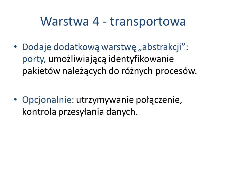 Warstwa 4 - transportowa