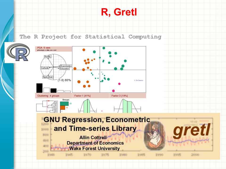 R, Gretl Omów krótko prezentację. Przedstaw najważniejszy element i wyjaśnij, dlaczego jest on istotny.