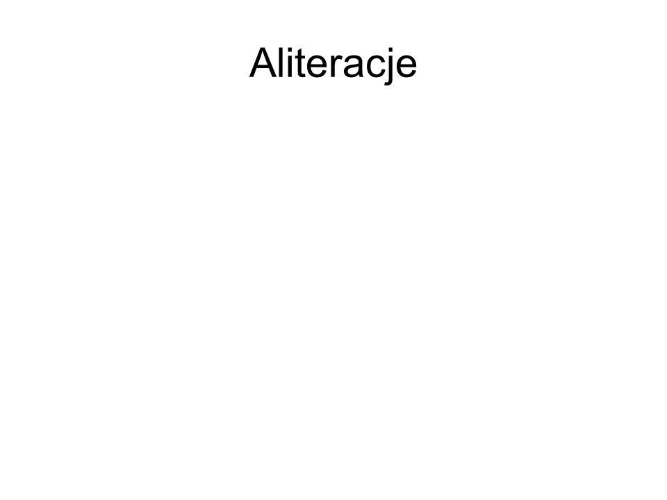 Aliteracje