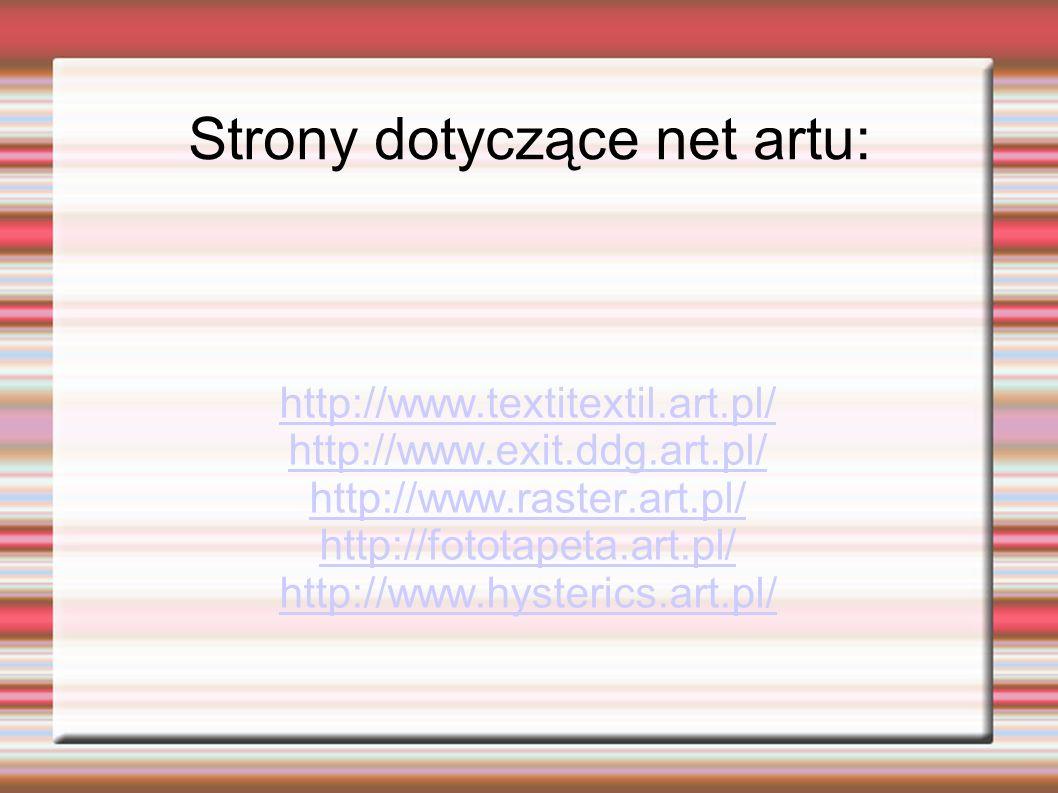 Strony dotyczące net artu: