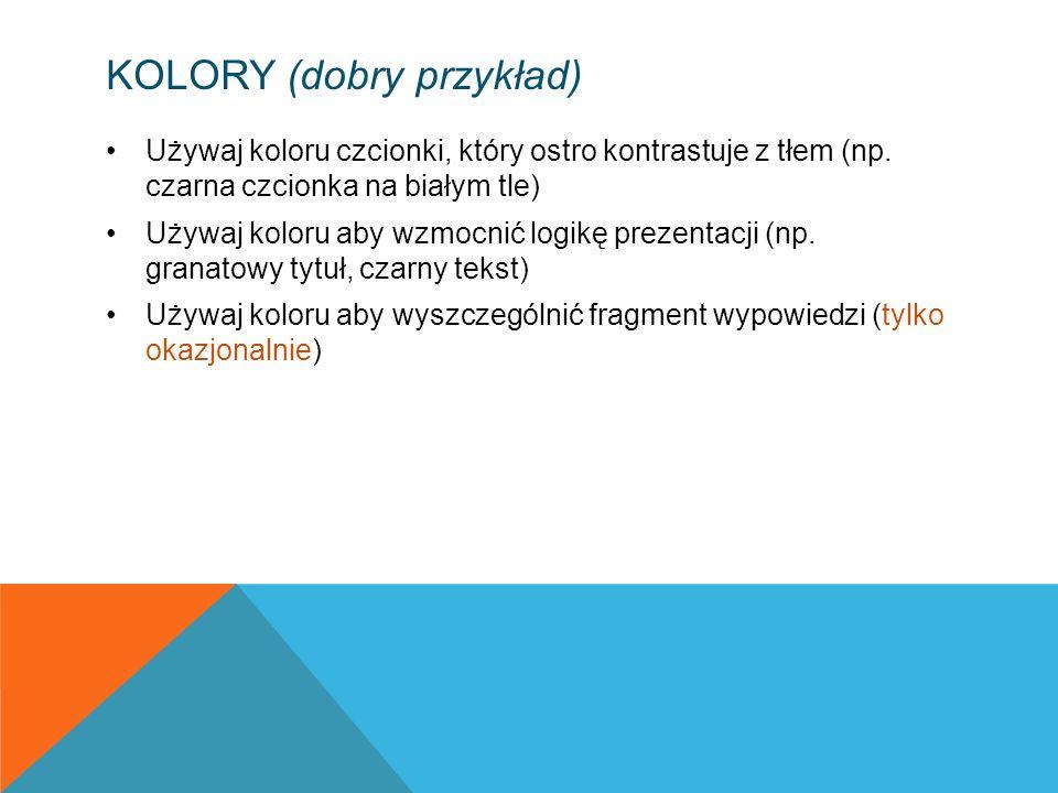 Kolory (dobry przykład)